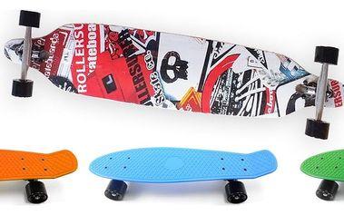 Plastic board Unison ve více barvách a Longboard Freeride Unison