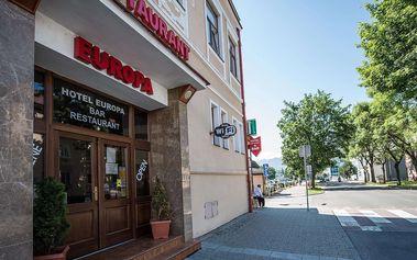 Hotel EUROPA*** v centru Liptovského Mikuláše s polopenzí a vstupem do Thermal parku - místo, kde se snoubí historie s stylem