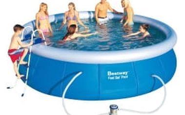 BESTWAY Rodinný bazén 457 x 107 cm SADA bazén s kartušovou filtrací + schůdky + plachty