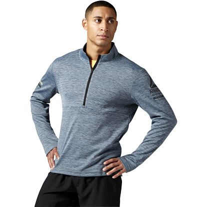 Reebok One Series Running LS 1/2 Zip XL