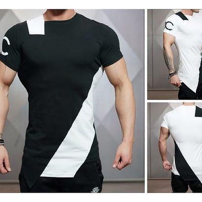 Pánské asymetrické tričko Shark