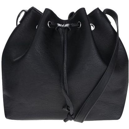 Černá crossbody koženková kabelka Pieces Malou