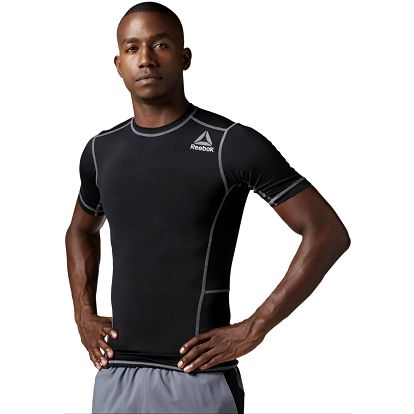 Reebok Workout Ready Stacked Logo SS SLD Compression S