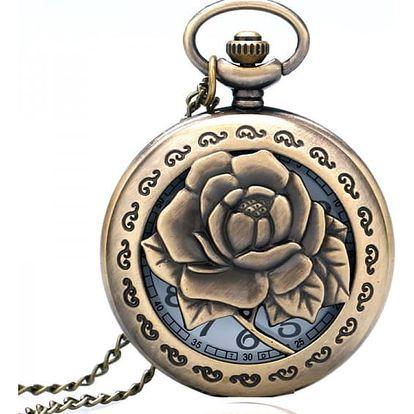 Kapesní hodinky s motivem růže