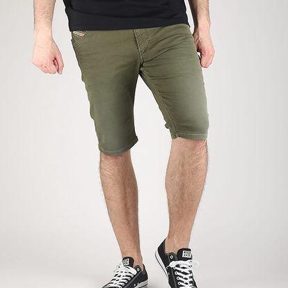 Kraťasy Diesel KROSHORT-NE CALZONCINI Jogg Jeans 34 Zelená + DOPRAVA ZDARMA