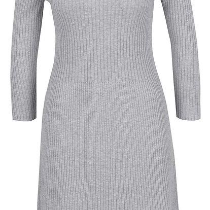 Šedé dámské žebrované šaty s.Oliver