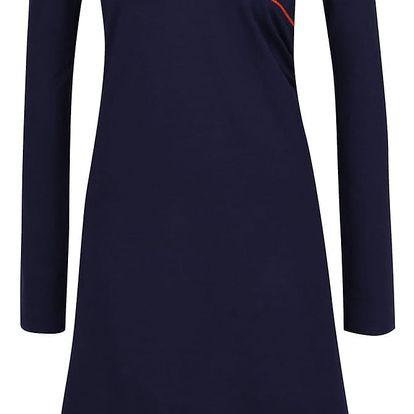 Tmavě modré šaty s překládaným dekoltem Tranquillo Mila