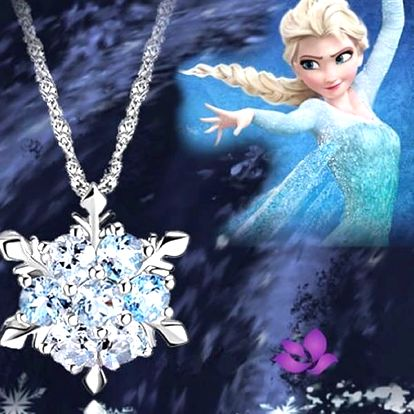 Sněhová vločka od Anny a Elsy z ledového království, módní doplněk pro mladé slečny.