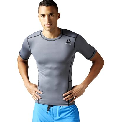 Reebok Workout Ready Stacked Logo SS SLD Compression L