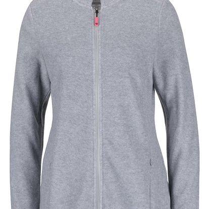 Světle šedá dámská fleecová mikina na zip M&Co