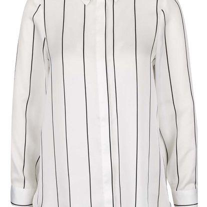 Krémová pruhovaná košile Dorothy Perkins Petite