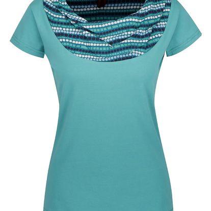 Tyrkysové tričko s krátkým rukávem Tranquillo Aaltje