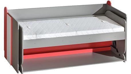 Dolmar Postel kombinovaná s psacím stolem FUTURO F14 Barevné provedení: Grafit / tyrkys / bílá
