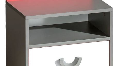 Dolmar Noční stolek FUTURO F12 A Barevné provedení: Grafit / malina / bílá