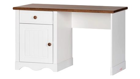 Szynaka Psací stůl PRINCESSA 04 barevné provedení doplňků: bílá / koňak