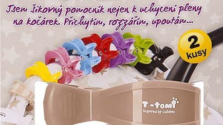 T-TOMI Kočárkový kolíček, 2 ks, béžový