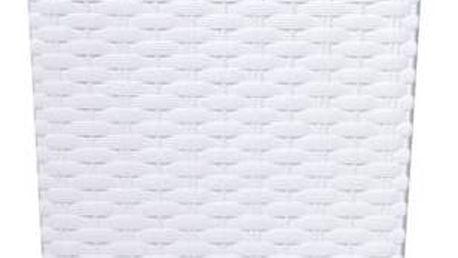 Květináč Prosperplast Rato square 26,5 x 26,5 x 50 cm bílý
