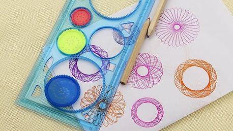 Spirograf a šablony na kreslení různých obrazců - 5 kusů