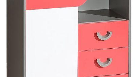 Dolmar Komoda FUTURO F6 Barevné provedení: Grafit / malina / bílá