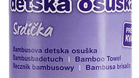 T-TOMI Bambusová osuška, 1 ks, srdíčka
