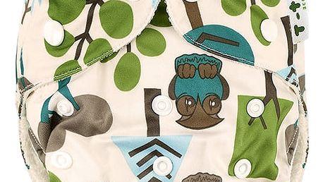 T-TOMI Bambusová kalhotková plena + 2 bambusové vkládací pleny, stromy