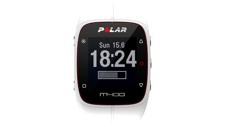 Polar M400 HR bílý