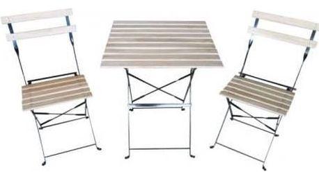 Zahradní nábytek Rojaplast Bistro set ZWF-75 + Houpačka CUBS dřevěná s ohrádkou v hodnotě 199 KčZahradní gril kulatý SportTeam 35cm