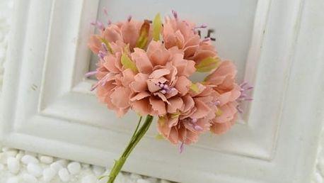 Umělá květina v podobě karafiátu - 6ks