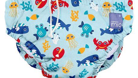 BAMBINO MIO Kalhotková koupací plena Deep Sea Blue vel.M (7-9kg)