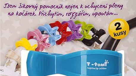 T-TOMI Kočárkový kolíček, 2 ks, modrý