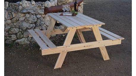 Zahradní nábytek Rojaplast Piknik dřevo + Houpačka CUBS dřevěná s ohrádkou v hodnotě 199 KčZahradní gril kulatý SportTeam 35cm