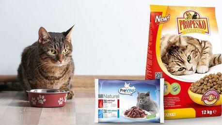 Kočičí granule Propesko s kuřecím masem - 12 kg