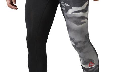 Pánské sportovní kalhoty Reebok Spray Camo Compression Tight XXL