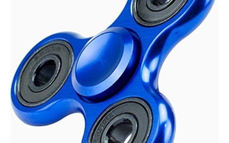 Trojcípý fidget spinner v modré barvě