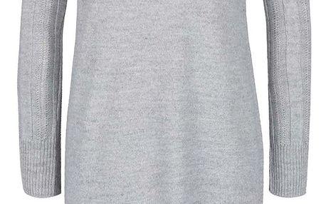 Šedé svetrové šaty s límcem Miss Selfridge