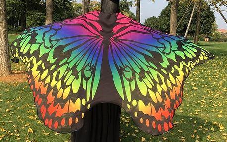 Motýlí pareo - vhodné na pláž
