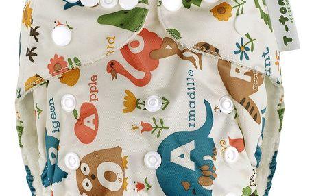 T-TOMI Bambusová kalhotková plena AlO+ 2 bambusové vkládací plenky, bílá safari