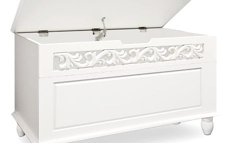 Dřevěná truhla bílá D2565 Dekorhome