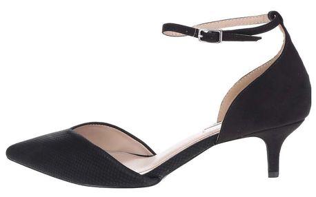 Černé sandálky na podpatkku Miss KG