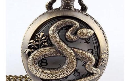 Kapesní hodinky s motivem hada
