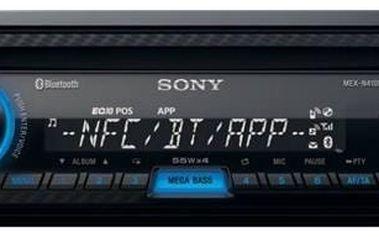 Autorádio s CD Sony MEX-N4100BT Power Bank Sony CP-V3W 2800 mAh 2800 - bílá (zdarma) + Doprava zdarma