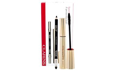 Clarins Wonder Perfect dárková kazeta pro ženy řasenka 7 ml + tužka na oči Eye Pencil Waterproof 1,2 g 01 Black