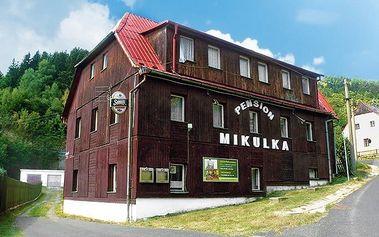 3 až 5denní pobyt s polopenzí v pensionu Mikulka pro 2 v Krušných horách