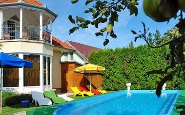 Maďarsko pro DVA u Balatonu s wellness a bazénem neomezeně, polopenzí a půjčením kol