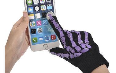 Víceúčelové zimní rukavice pro ovládání dotykového telefonu - bílá - dodání do 2 dnů