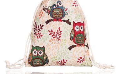 Fashion Icon Lněný vak Owl sova
