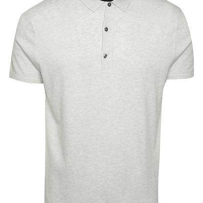 Světle šedé polo triko Burton Menswear London