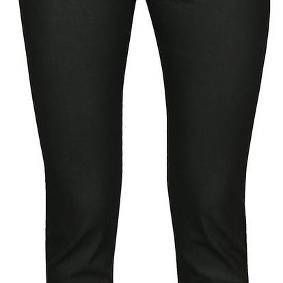 Černé dámské slim fit džíny s povoskovaným efektem Pietro Filipi