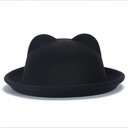 Stylový klobouk s kočičími oušky - různé barvy