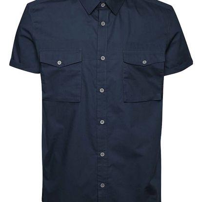 Tmavě modrá košile s krátkým rukávem Menswear London